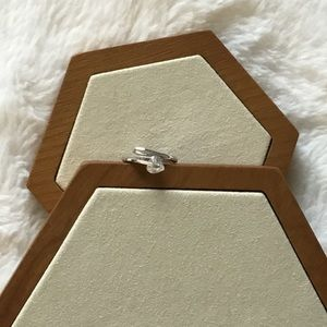 Jewelry - Sterling Silver Crystal Mini Heart Ring